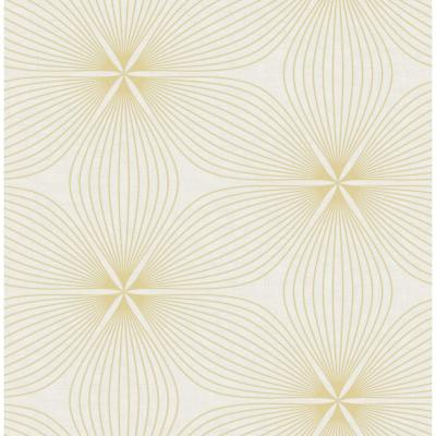 Lucy Metallic Gold and White Starburst Wallpaper