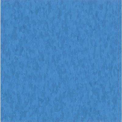 Take Home Sample - Imperial Texture VCT Bodacious Blue Commercial Vinyl Tile - 6 in. x 6 in.
