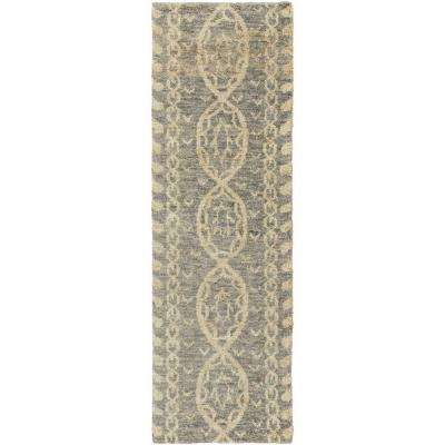 Toluca Ivory 3 ft. x 8 ft. Indoor Runner Rug