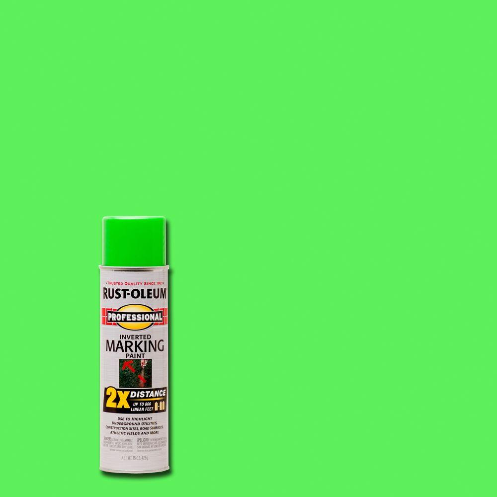 Rust-Oleum Professional 15 oz. 2X Fluorescent Green Marking Spray Paint