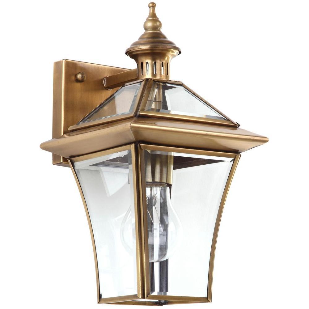 Safavieh Virginia 1 Light Brass Sconce Lit4221a The Home Depot