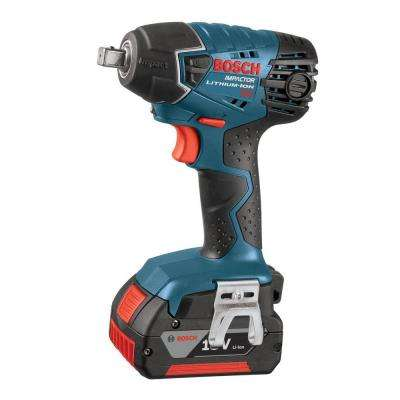 18 Volt Lithium-Ion Cordless Electric 1/2 in. Variable Speed Impact Wrench Kit with (2) 4.0Ah Batteries