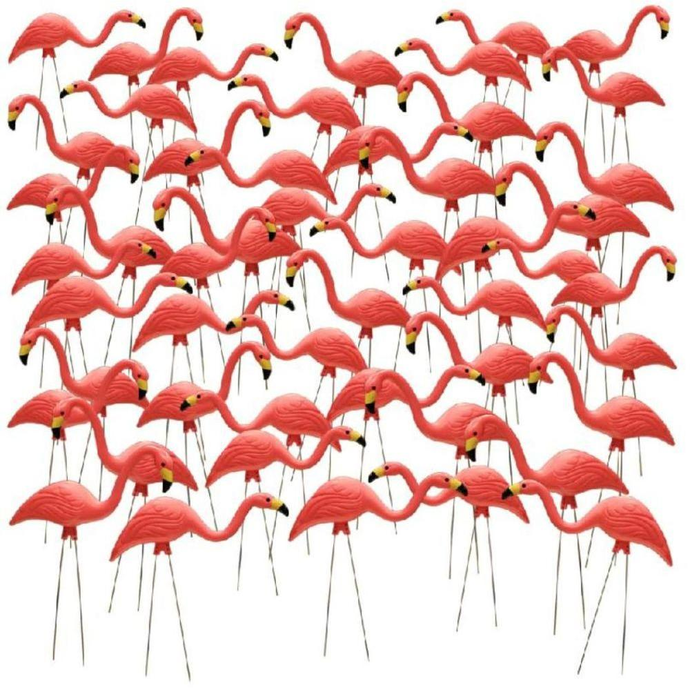 Southern Patio 27 in. Pink Flamingo (50-Pack)