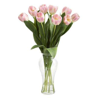 Indoor Tulips Artificial Arrangement in Vase