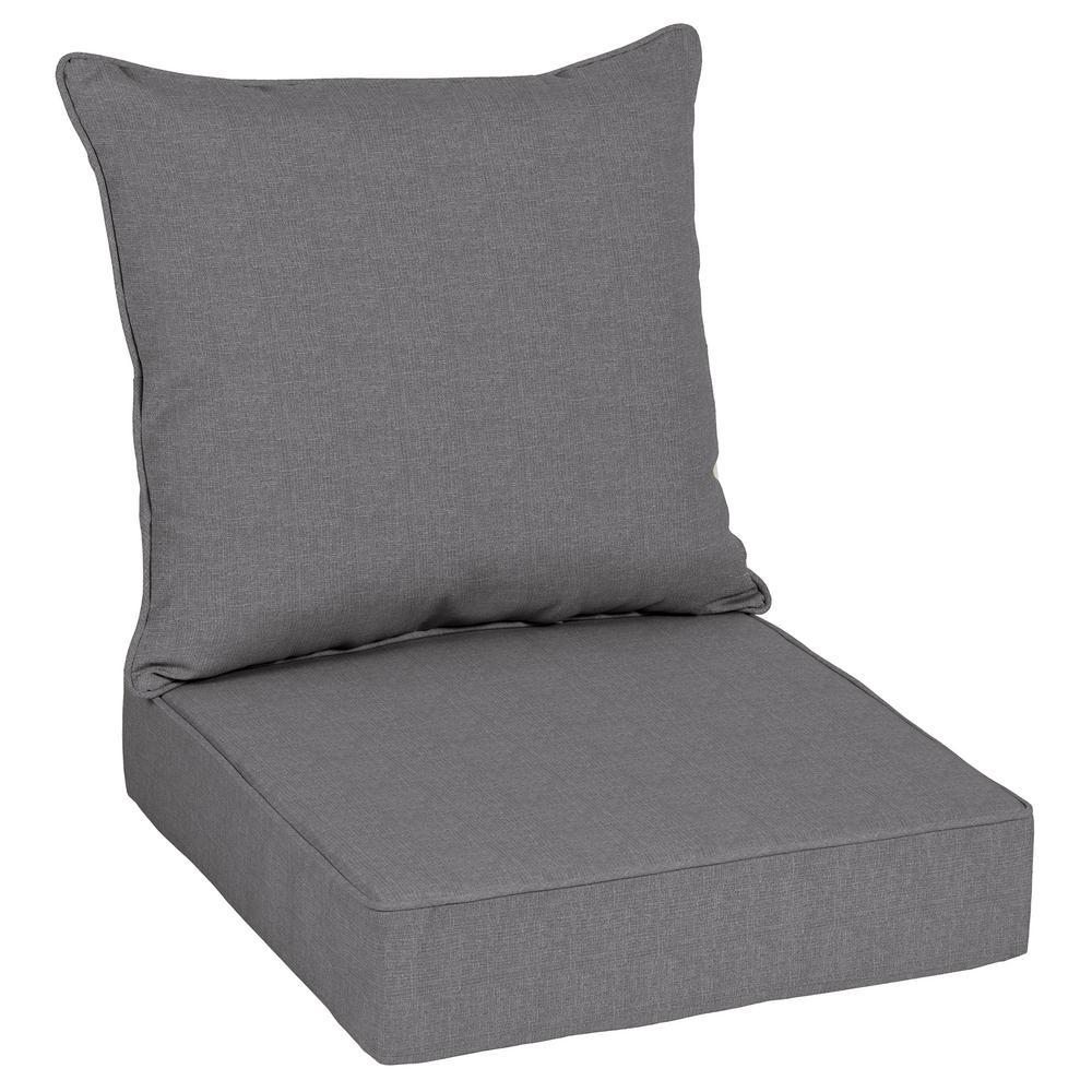 Home Decorators Collection Sunbrella Cast Slate Outdoor Lounge Chair Cushion