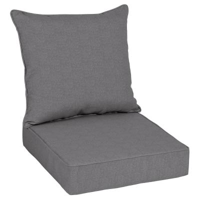 Oak Cliff 24 x 24 Sunbrella Cast Slate Deep Seating Outdoor Lounge Chair Cushion