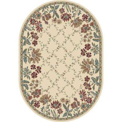Coughlin Ivory 7 ft. x 10 ft. Indoor Oval Area Rug