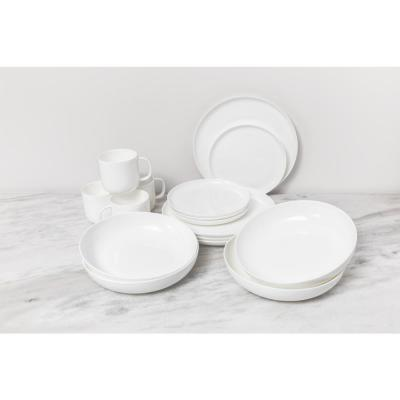 16-Piece Traditional White Bone China Dinnerware Set (Service for 4)