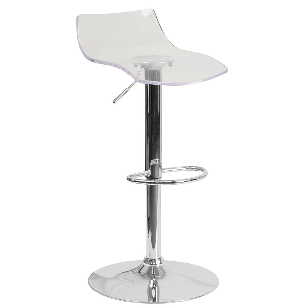 Flash Furniture Adjule Height Acrylic Bar Stool