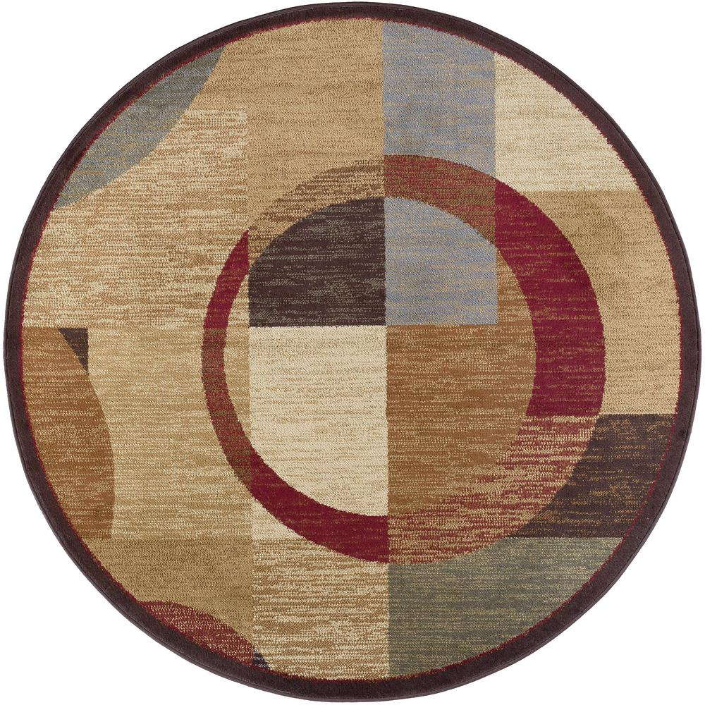 tayse rugs elegance multi 7 ft 10 in x 7 ft 10 in round indoor area rug 5110 multi 8 39 round. Black Bedroom Furniture Sets. Home Design Ideas