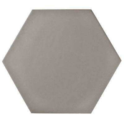 Hexatile Matte Gris 7 in. x 8 in. Porcelain Floor and Wall Tile (2.2 sq. ft. / Pack)