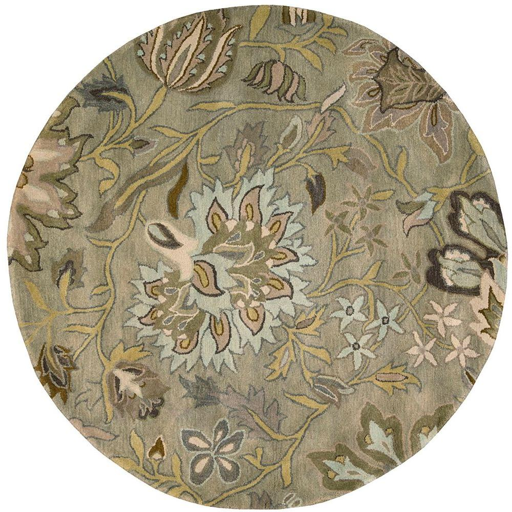 Nourison Jaipur Silver 6 ft. Round Area Rug