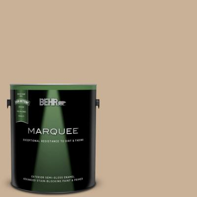 Behr Marquee 1 Gal N330 3 Unmarked Trail Semi Gloss Enamel Exterior Paint And Primer In One 545001 The Home Depot