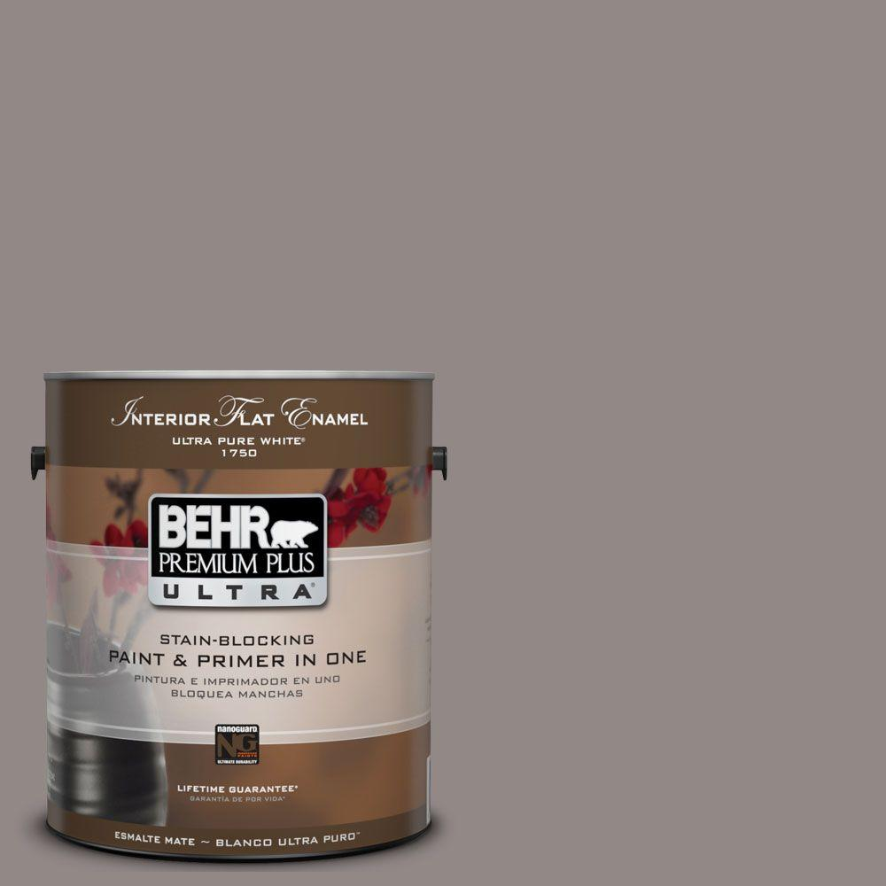 BEHR Premium Plus Ultra 1-gal. #UL250-4 Polished Stone Interior Flat Enamel Paint