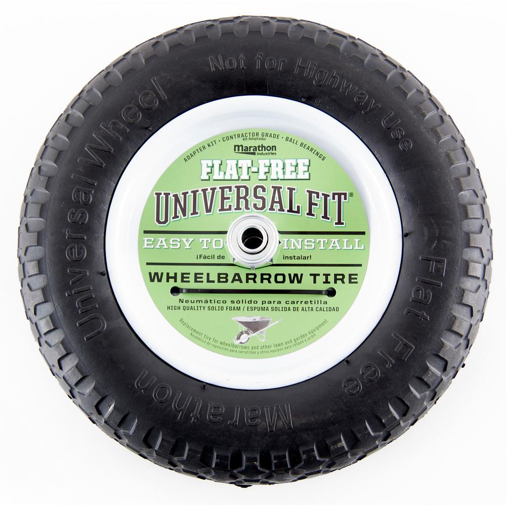 Marathon 14.5 in. Flat Free Universal Wheelbarrow Wheel