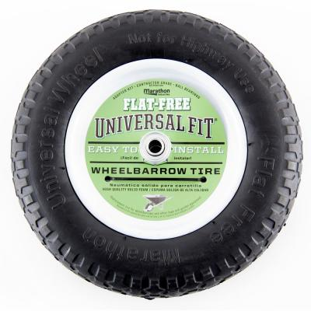 14.5 in. Flat Free Universal Wheelbarrow Wheel
