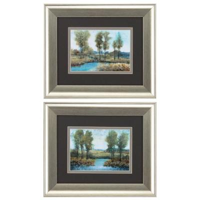 HomeRoots Victoria Brushed Silver Gallery Frame ( Set of 2 )