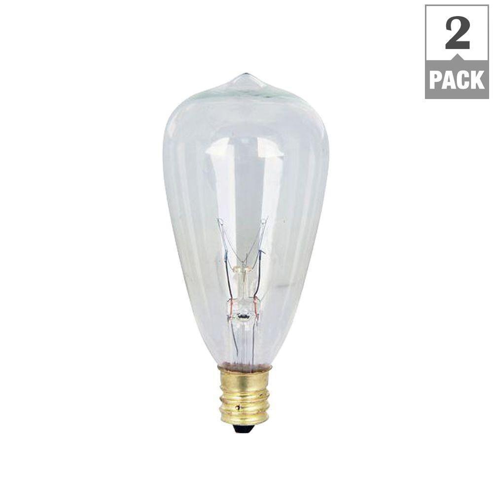 Feit Electric 7-Watt Soft White (2200K) ST12 Incandescent Original Vintage Style Light Bulb (2-Pack)