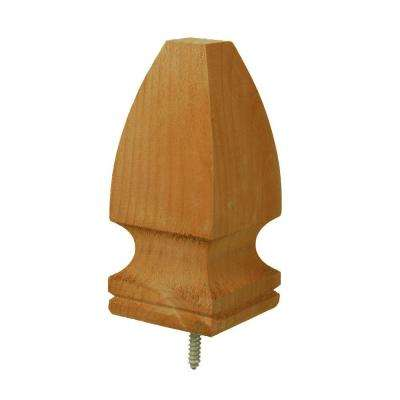 4 in. x 4 in. Pressure-Treated Cedar-Tone Pine Gothic Finial (6-Pack)