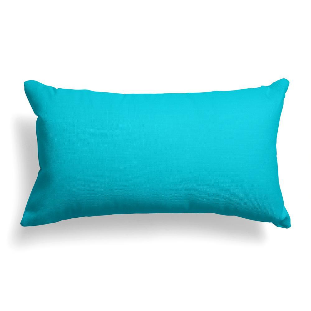 Lagoon Aqua Rectangular Lumbar Outdoor Pillow