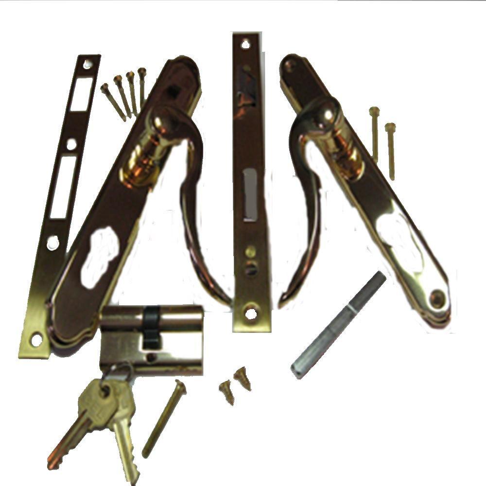 BP IL550 Slimline Double Cylinder Brass and Gold Lockset