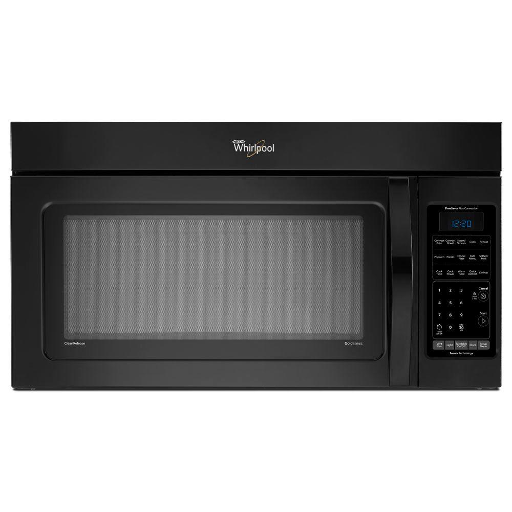 Whirlpool 1.8 cu. ft. Over the Range Convection Microwave in Black, with Sensor Cooking-DISCONTINUED