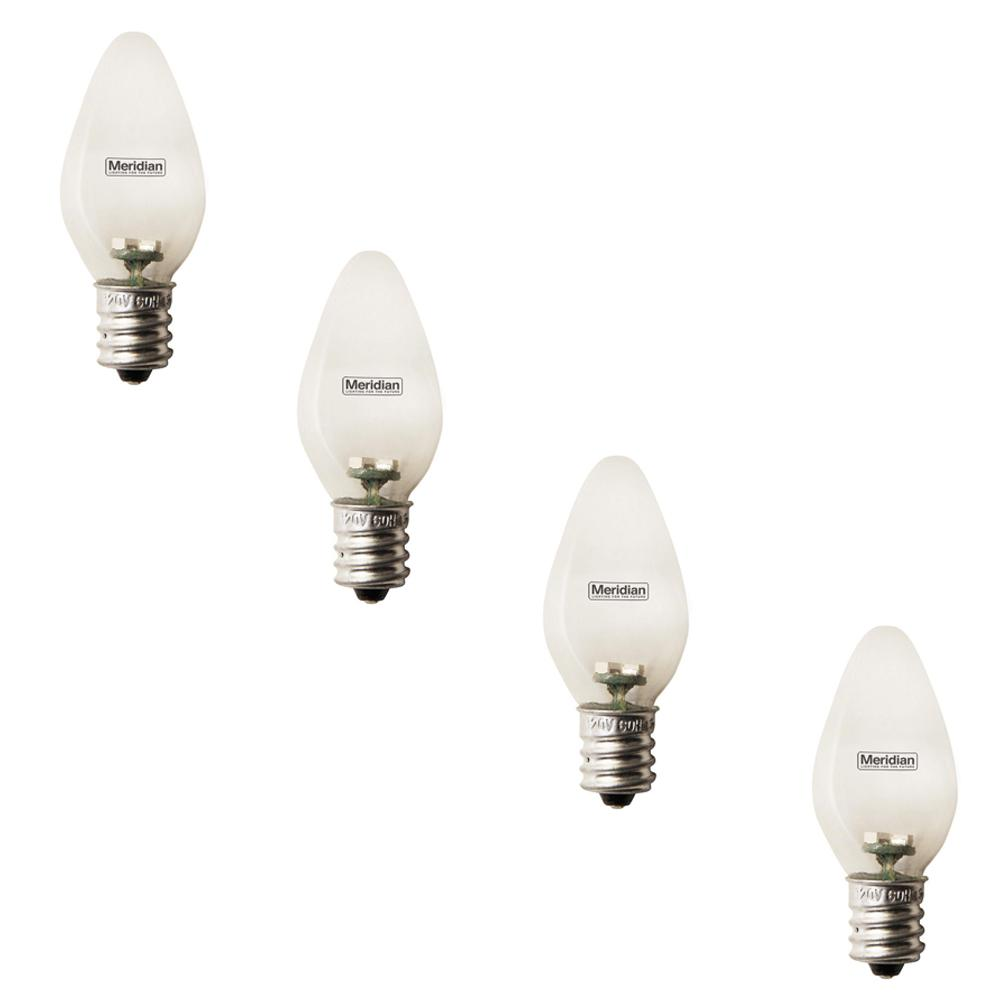 C7 Led Bulb >> Meridian 4 Watt Equivalent Soft White C7 Led Light Bulb 4 Pack