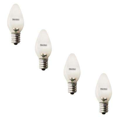 4-Watt Equivalent Soft White C7 LED Light Bulb (4-Pack)