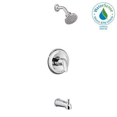 Colony Pro 1-Handle 1-Spray Shower Faucet Trim Kit in Polished Chrome (Valve Not Included)