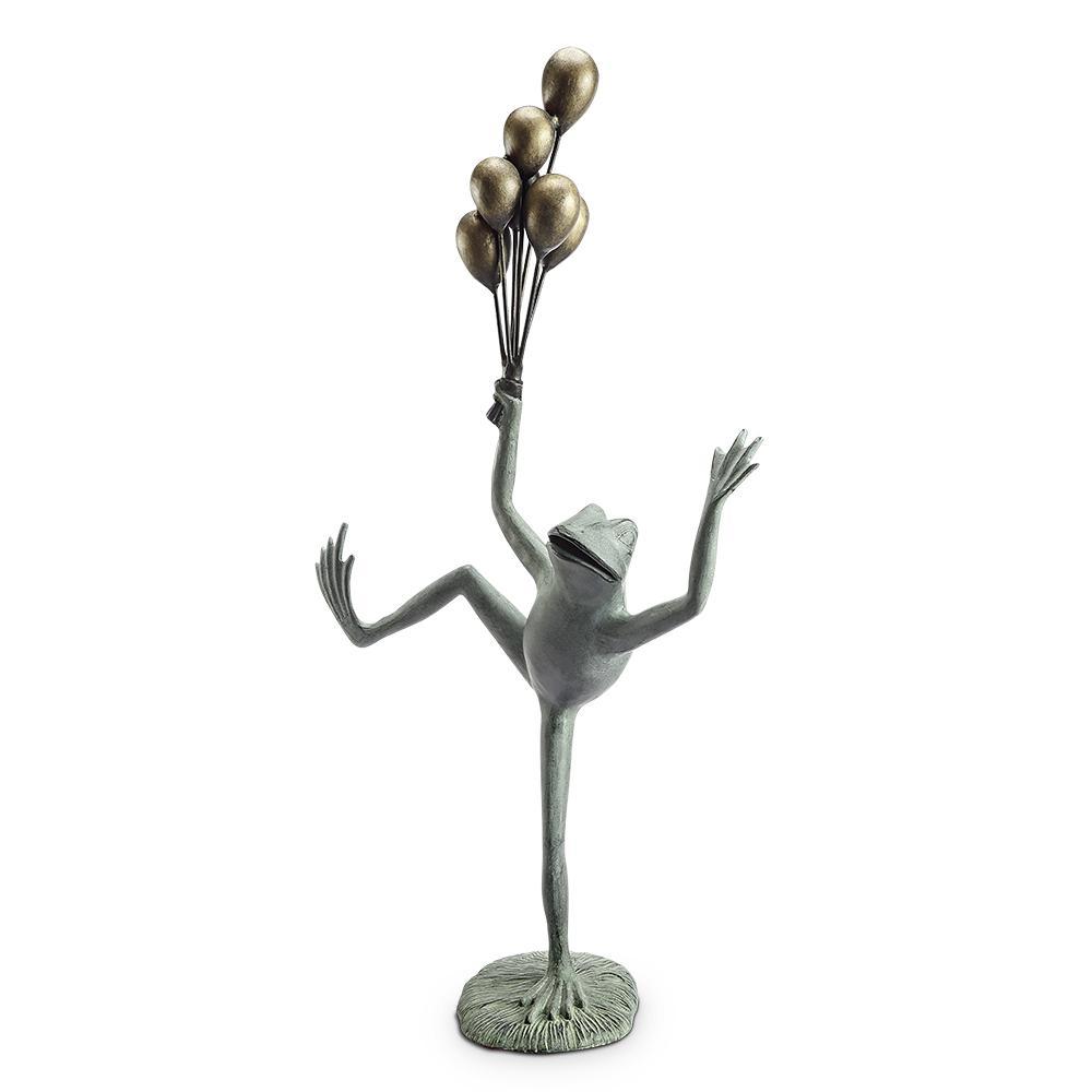 Balloon Seller Frog Garden Statue