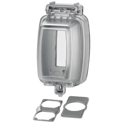 Decora/GFCI 1-Gang Extra Heavy Duty Raintight While-In-Use Device Mount Vertical Cover with Lid, Clear