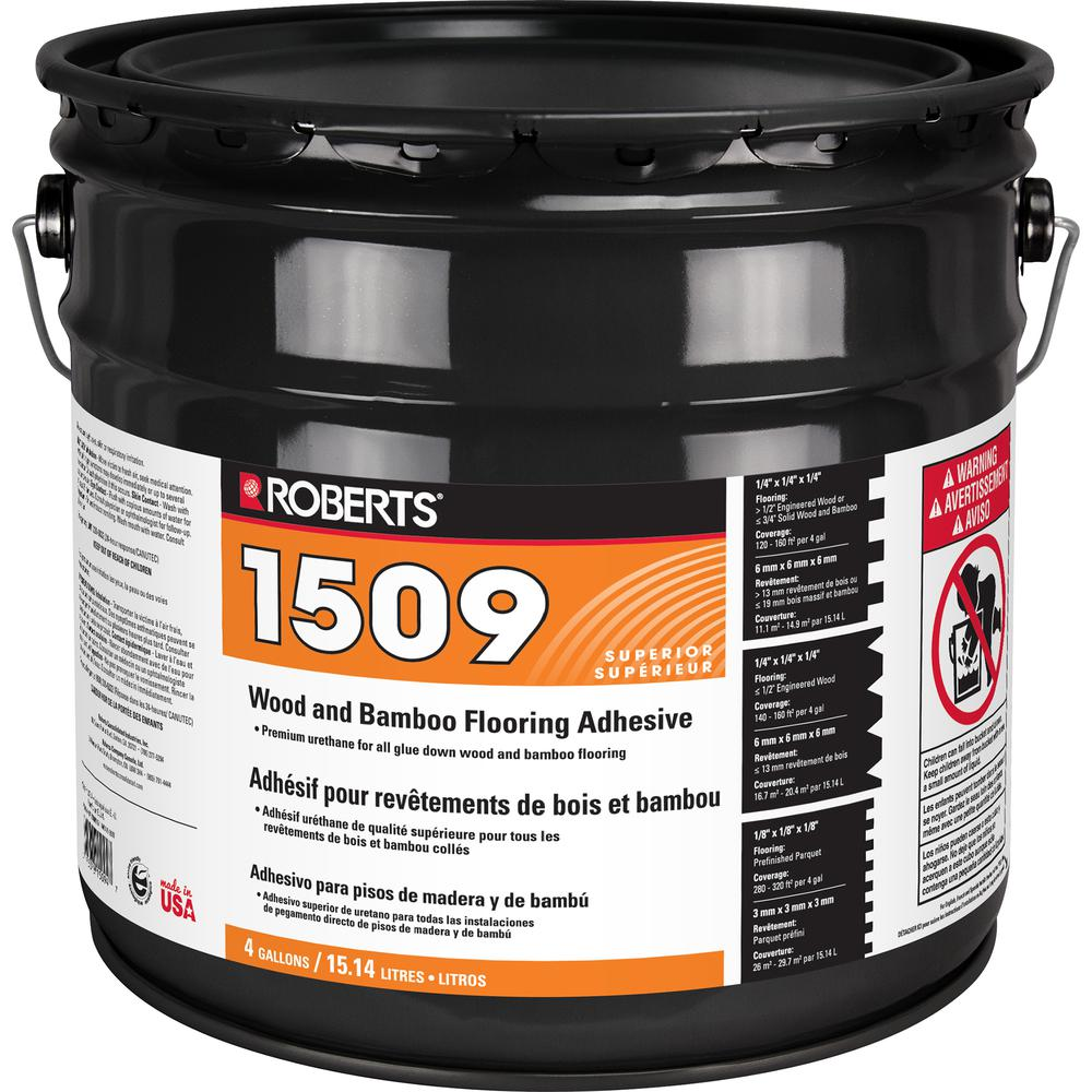 Roberts 4 Gal. Wood and Bamboo Flooring Urethane Adhesive