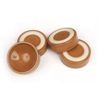 1-3/4 in. Caramel Furniture Wheel Caster Cups/Floor Protectors with Non Skid Rubber Grip (Set of 4)