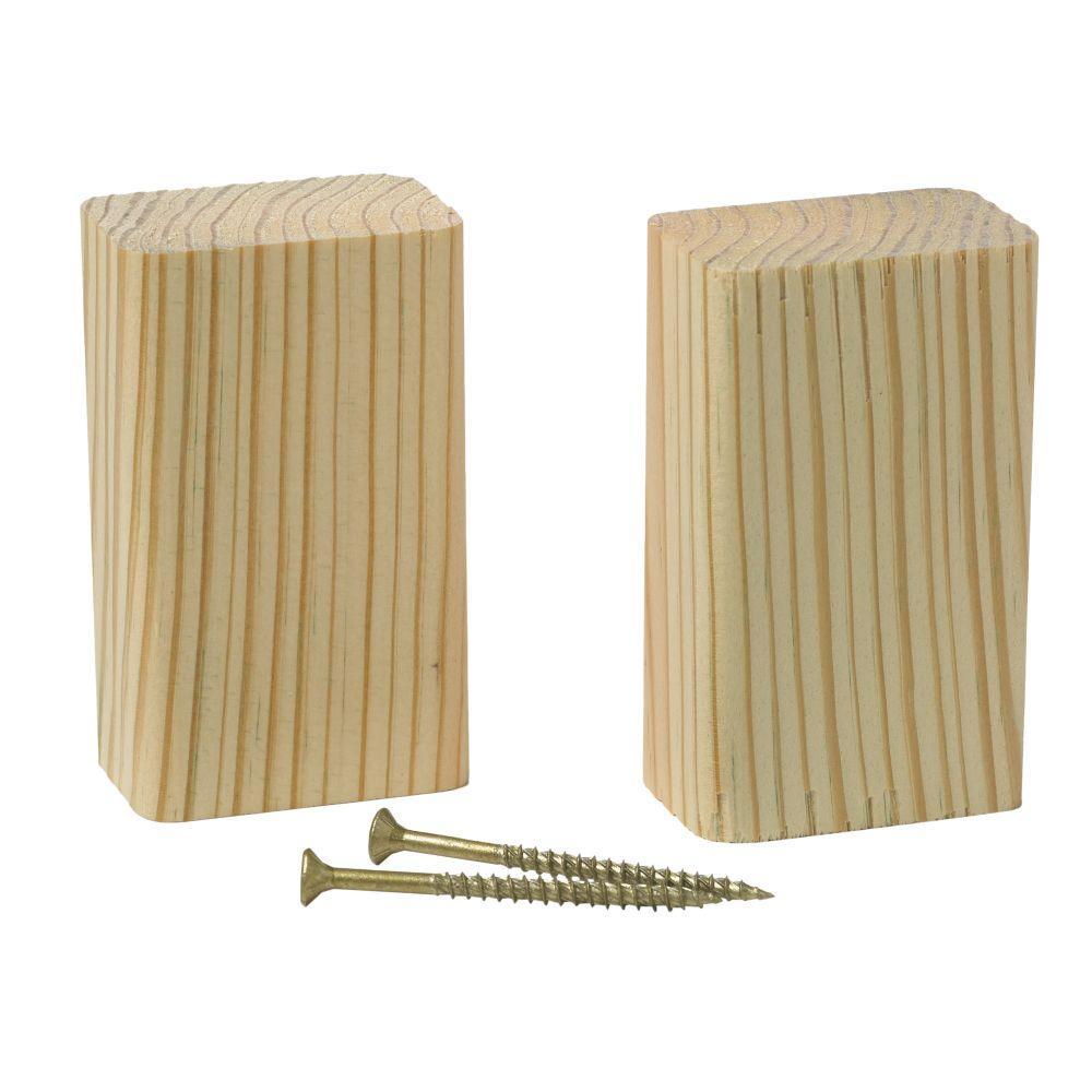 Railing Support Wood Block (2-Pack)