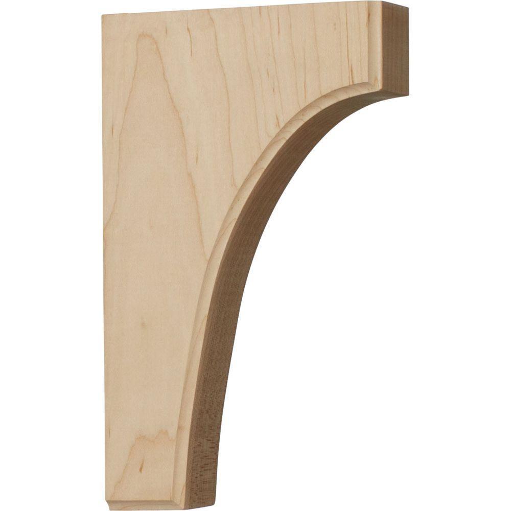 Ekena Millwork 6 in. x 1-3/4 in. x 10 in. Unfinished Wood Pine Clarksville Bracket-DISCONTINUED
