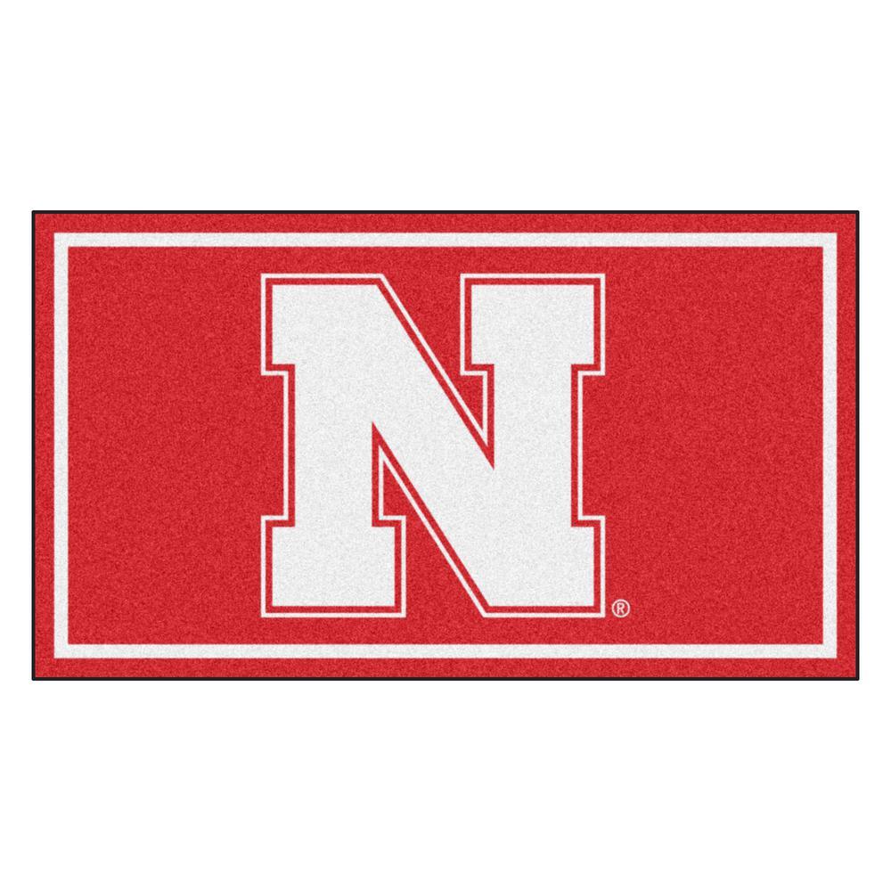NCAA University of Nebraska 3 ft. x 5 ft. Ultra Plush Area Rug