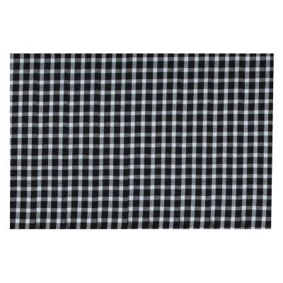 Farmhouse 19 in. x 13 in. Black and White Cotton Gingham Placemats (Set of 4)