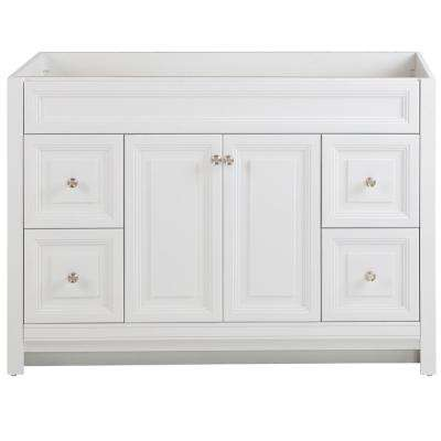 Brinkhill 48 in. W x 21.65 in. D x 34.25 in. H Bath Vanity Cabinet Only in White