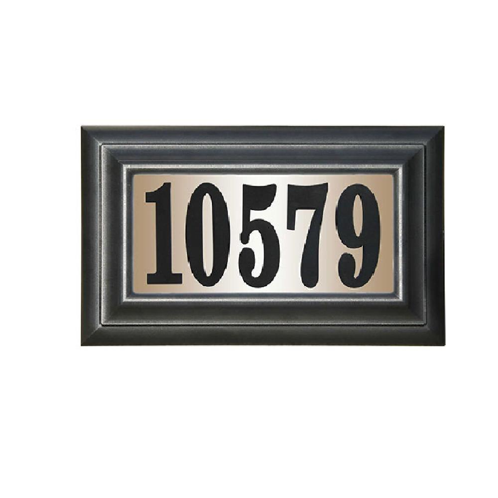 Qualarc Edgewood Classic Rectangular Plastic Lighted Address Plaque