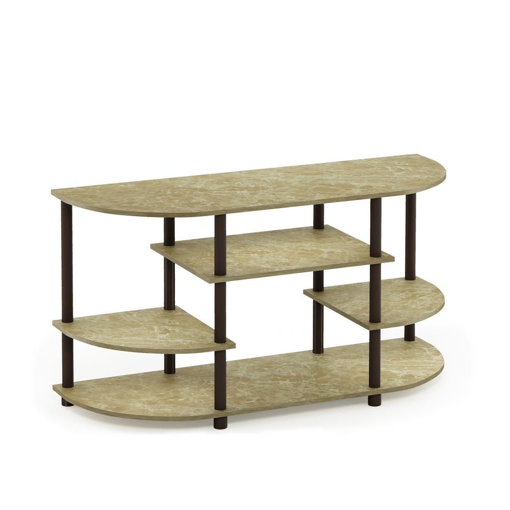Jaya Marble Brown Simple Design No Tool Tv Stand By Furinno