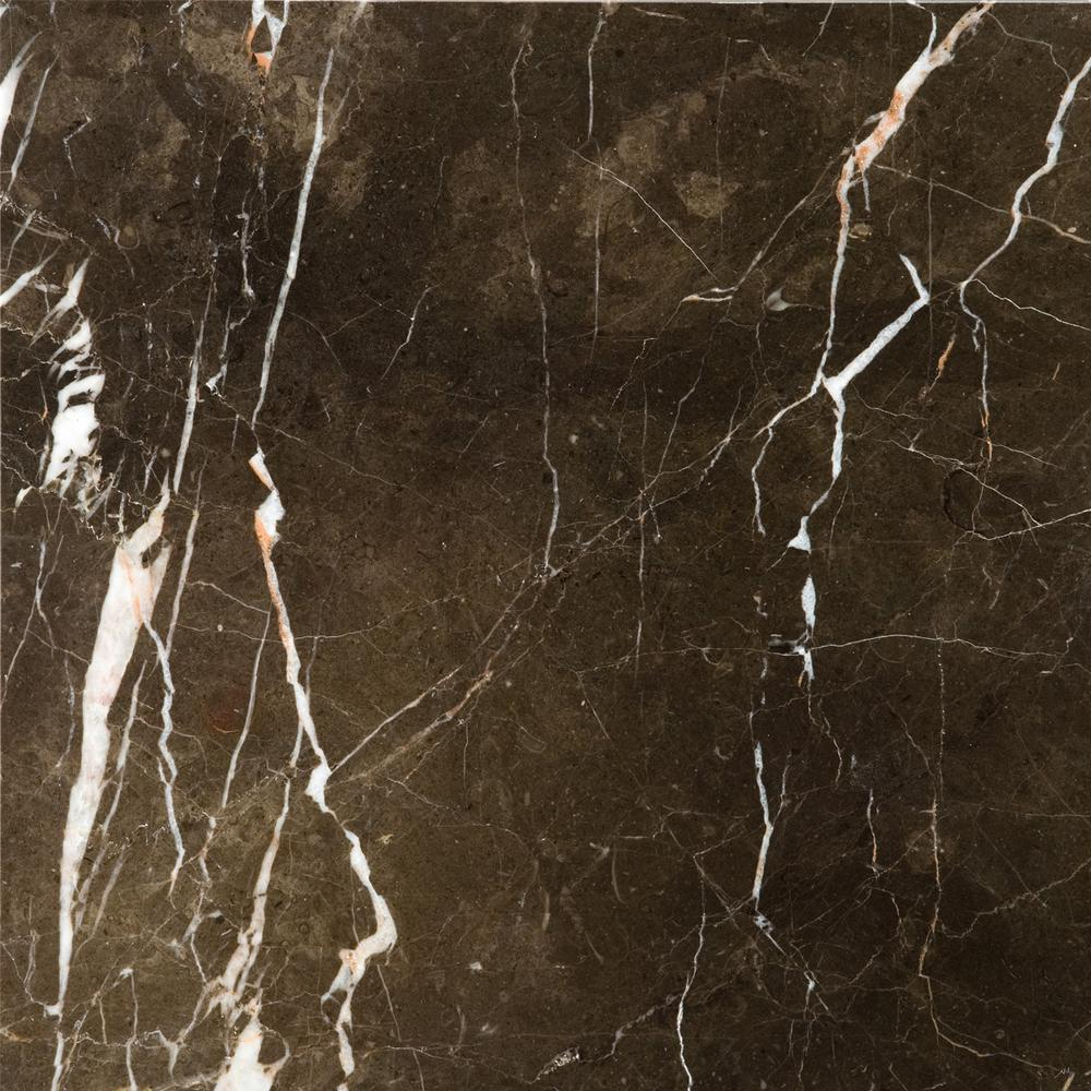 Emser Marble St Croix Brown Polished 12 01 In X 12 01 In