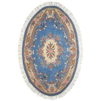 Imperial Light Blue 3 ft. x 5 ft. Oval Area Rug