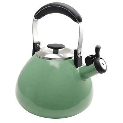 Marlowe 3 Qt. Mint Green Whistling Tea Kettle