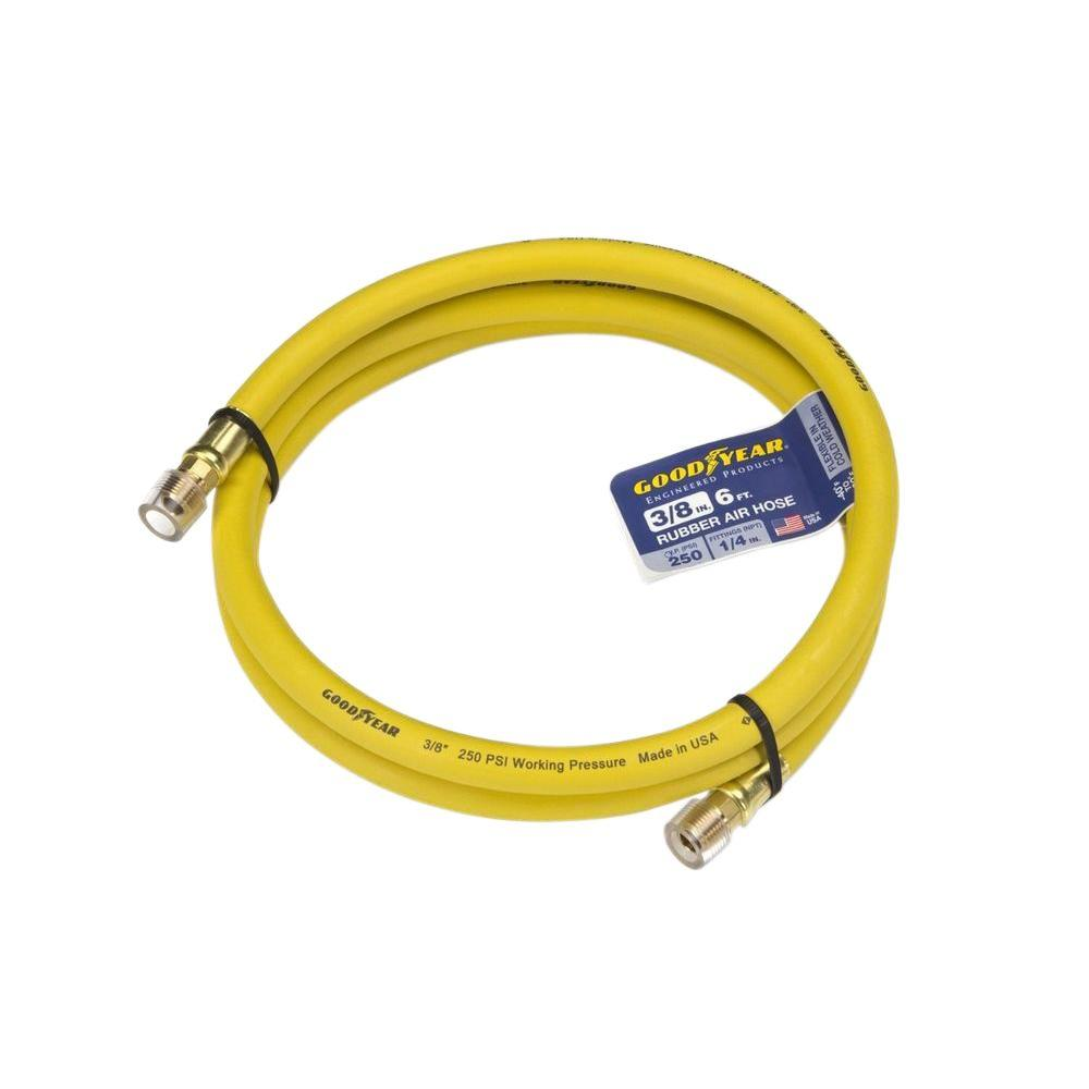 Goodyear 6 Ft X 3 8 In Rubber Whip Hose Yellow
