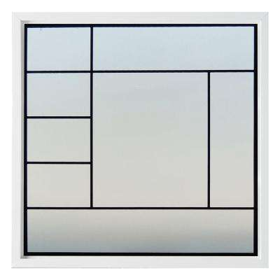 47.5 in. x 47.5 in. Metro Decorative Glass Picture Vinyl Window - White
