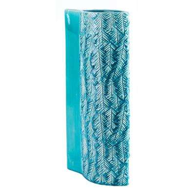Teal Liso Large Decorative Vase
