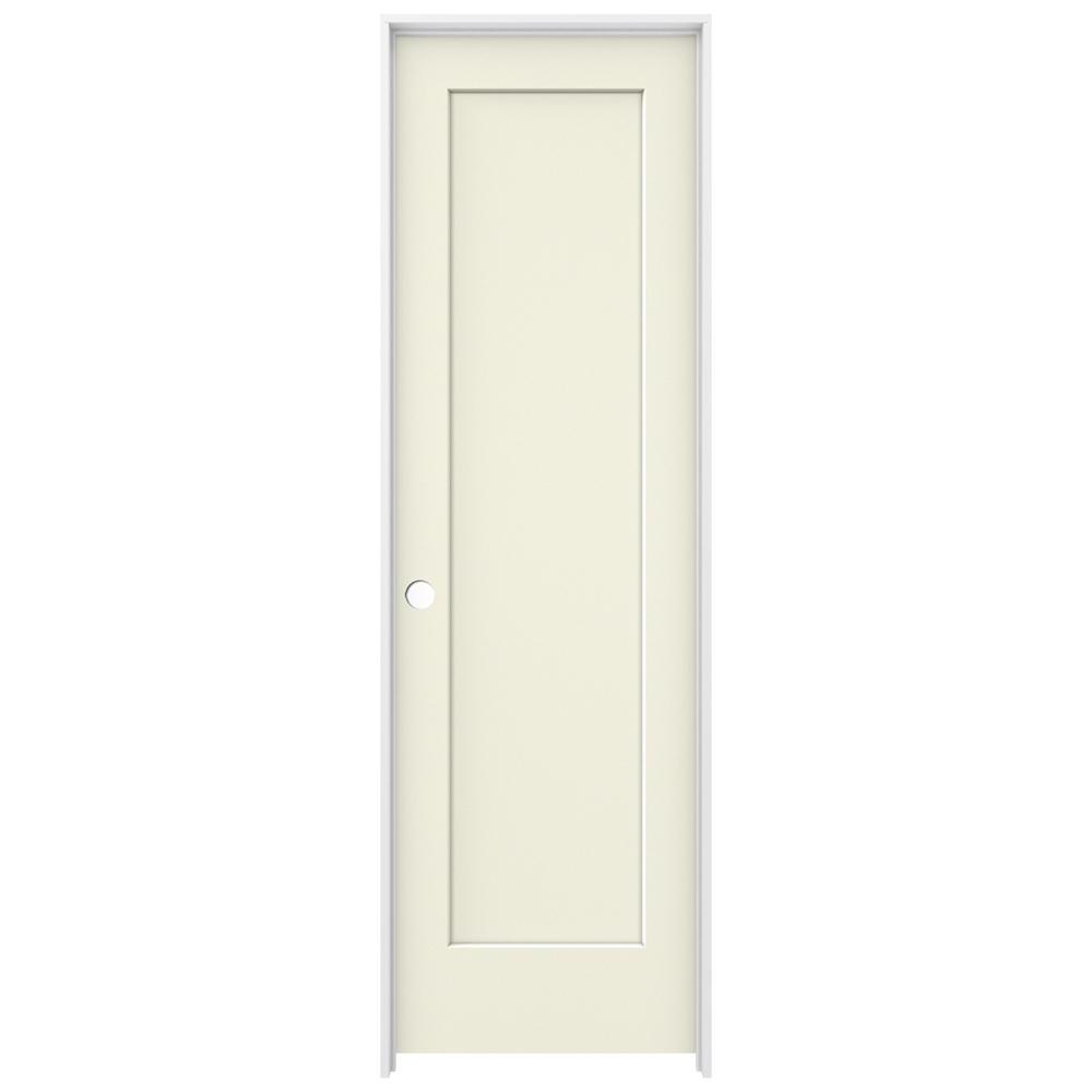 Jeld wen 24 in x 80 in madison vanilla painted right for 14 x 80 interior door