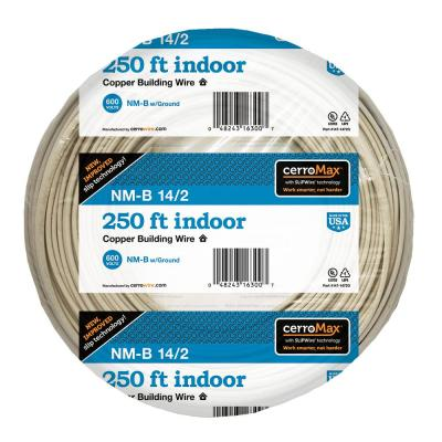 250 ft. 14/2 White NM-B Wire