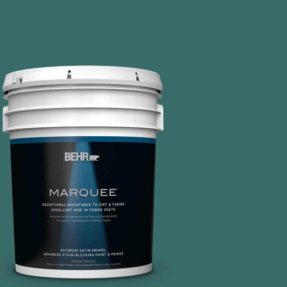 BEHR MARQUEE 5-gal. #M450-7 Beta Fish Satin Enamel Exterior Paint