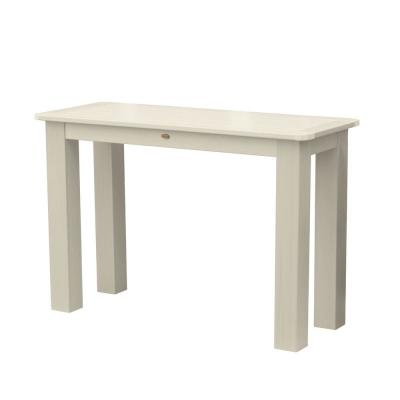 Whitewash Rectangular Recycled Plastic Outdoor Balcony Height Dining Table